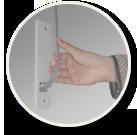 Ikona - ruční ovládání venkovní rolety