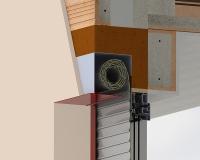 Detail roletové schránky do Rono, Vario, Ytong