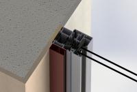 Vodící lišta rolety A3 kotvení do rámu
